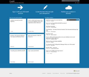 Microsoft's Curah on 3-27-14
